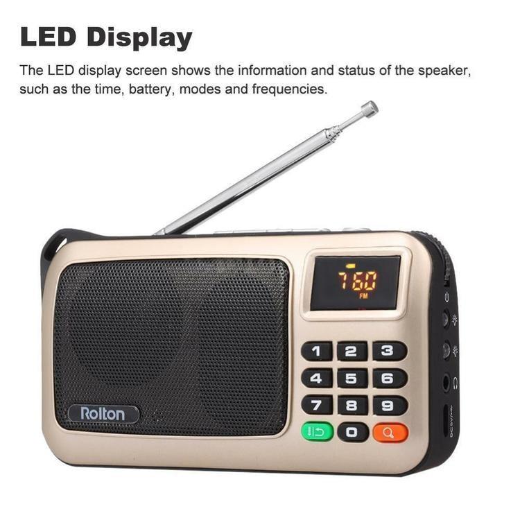 LED Stereo Mini Digital bärbar AUX TF-kort FM-radio