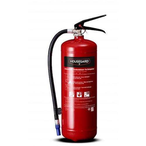 Housegard 6 kg pulversläckare, röd, PE6GEB 43A