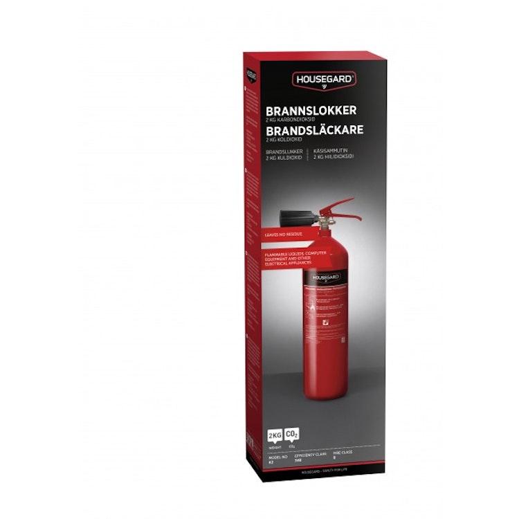 Slipp sanera med Housegard 2 kg koldioxidsläckare, röd, K2