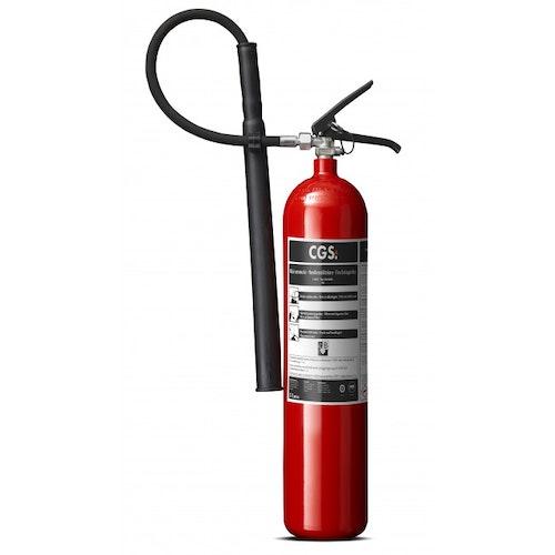 Ingen sanering med CGS 5 kg koldioxidsläckare, röd, K5TGX