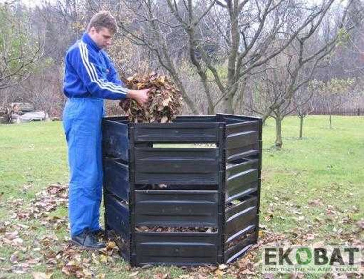 Kompostbehållare 1050L, kompostbox för kompostering utomhus, Ekobat
