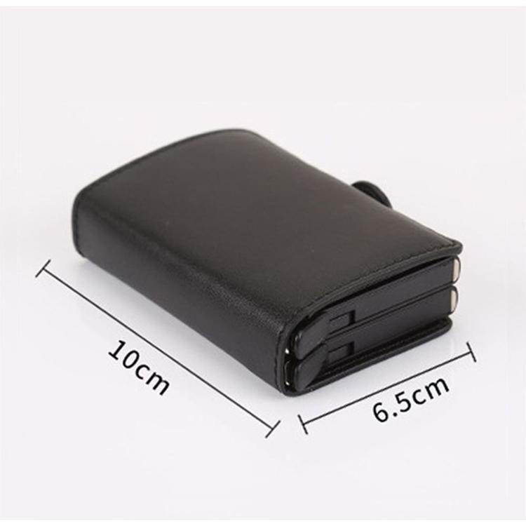 Läderplånbok Kreditkortshållare RFID säker, 12 kort