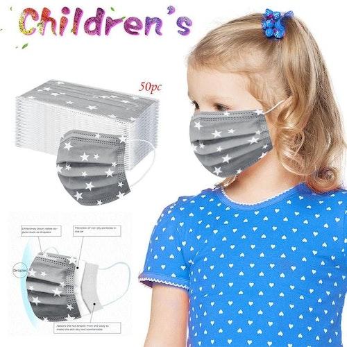 20-pack Mask för barn Engångs ansiktsmask