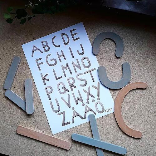 ABC- plansch A4