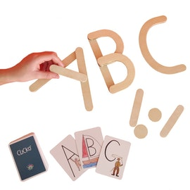 Learn the letters - 11 wooden magnetic parts