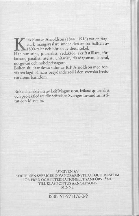Magnusson: Fredskämpen