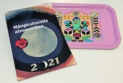Paketpris: Mångkulturella almanackan 2021 och Bricka av Saadia Hussain
