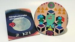 Paketpris: Mångkulturella almanackan 2021 och Grytunderlägg av Saadia Hussain