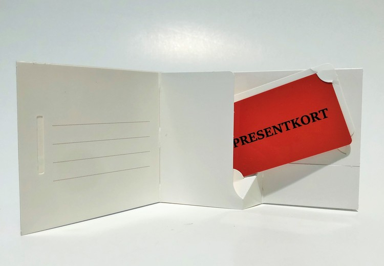 Presentkortsfolder ejector