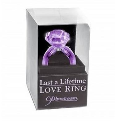 Last A Lifetime Love Ring Purple Diamond Cock-Ring