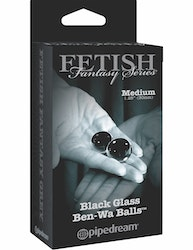 Fetish Fantasy Limited Edition Black Glass Ben-Wa Balls Medium