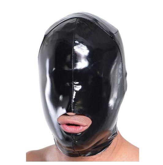 Wet Look Mouth Hood