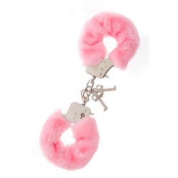 Metal Handcuff with Plush  - Pink
