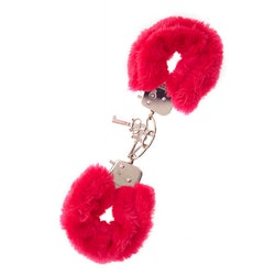Metal Handcuff with Plush  - Red