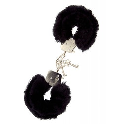Metal Handcuff with Plush - Black