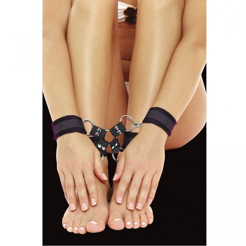 Velcro Hand And Leg Cuffs - Black