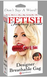Designer Breathable Gag - Red