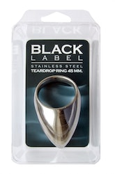 Stainless Steel Teardrop Cock Ring 45 mm