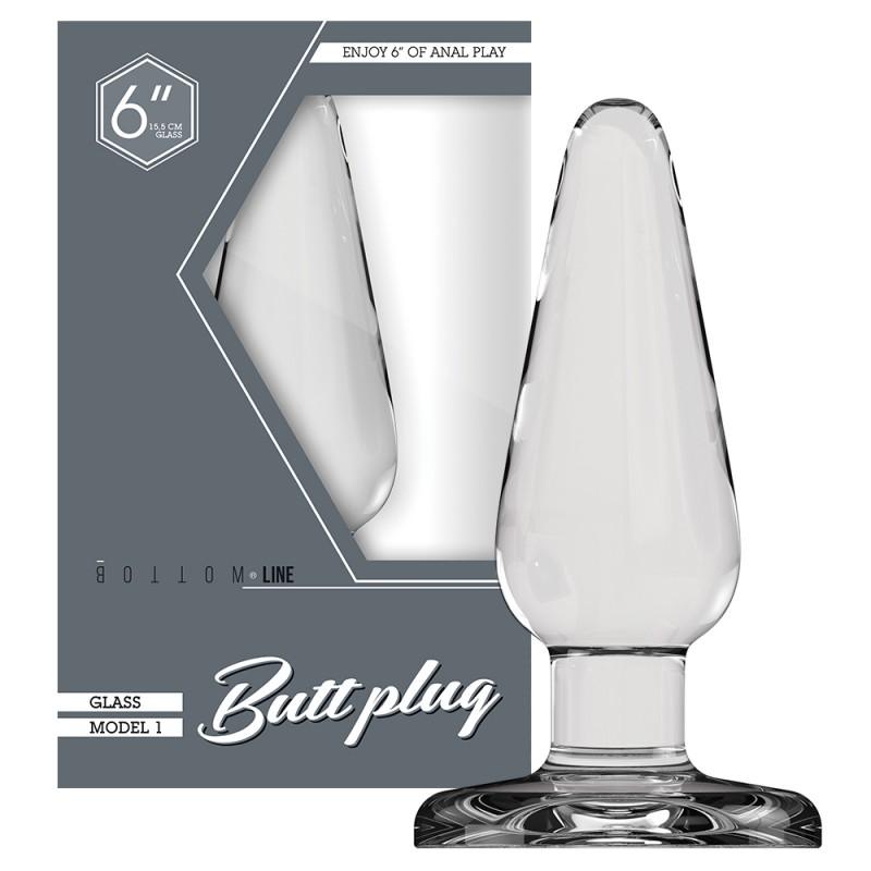 Buttplug - Glass 6 Inch
