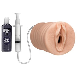 Squirt It: Squirting Pussy Stroker with Joy Juice - Vanilla