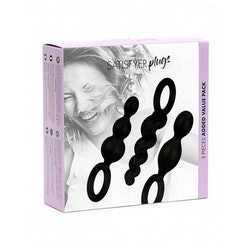 Satisfyer Plugs Silicone Black