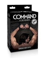 Command  - Bondage Door Cuffs - Black