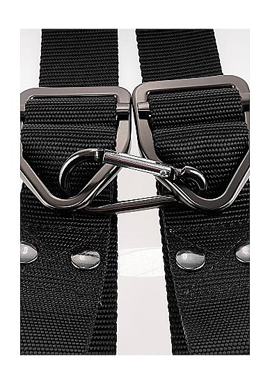 Command  - Bondage Door Cuffs - Black