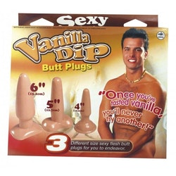 Vanilla Dip Butt Plugs Set