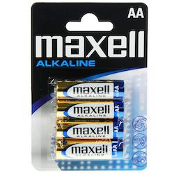 Maxell Batterier 4 st AA