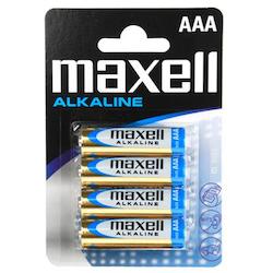 Maxell Batterier 4 st AAA