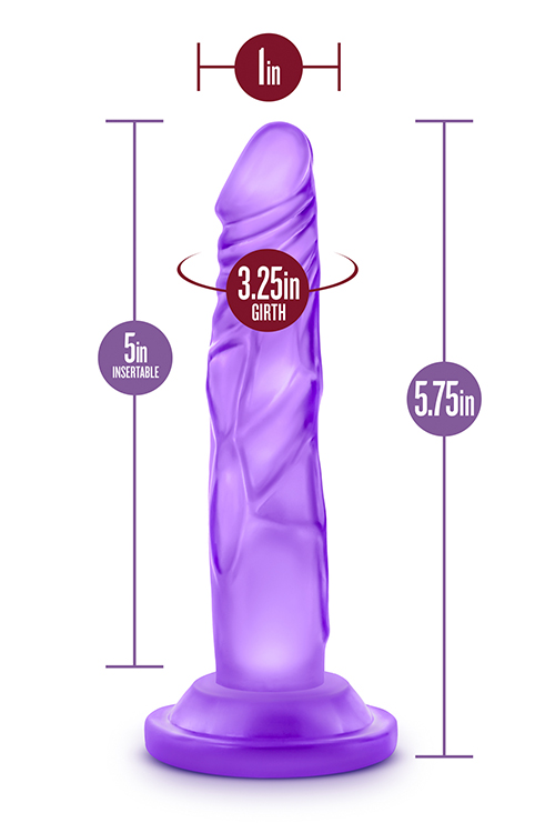 Naturally Yours 5 inch Mini Cock Purple