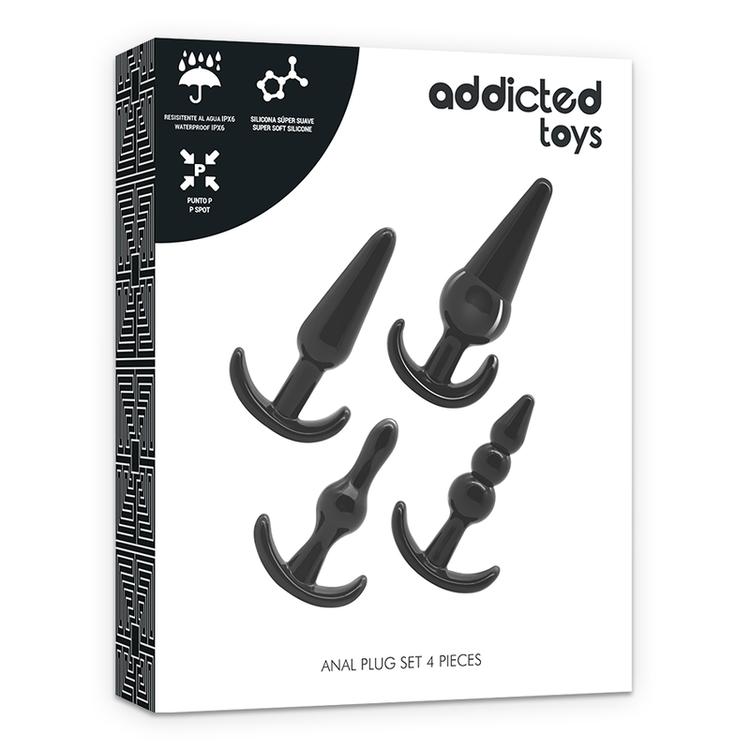 Addicted Toys 4 Silicone Anal Plugs Set