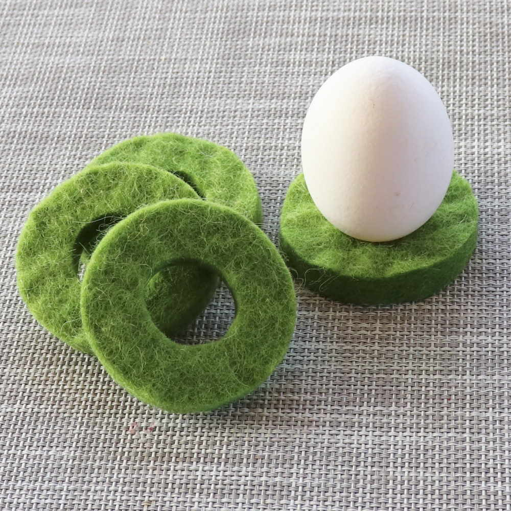 Äggkopp av svensk ull (4 st)