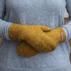 Handstickade ullvantar - Gul lav