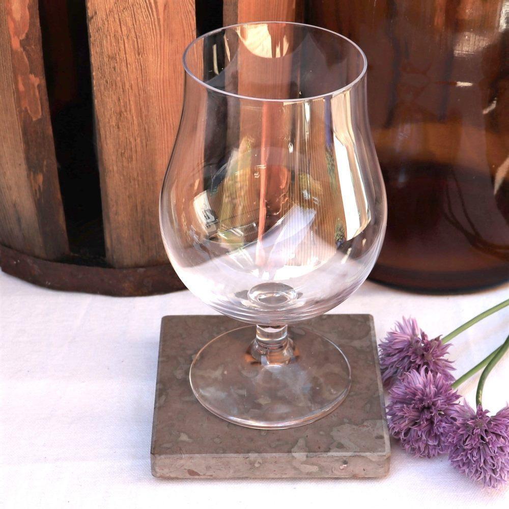 Glasunderlägg av ölandssten (2 st)