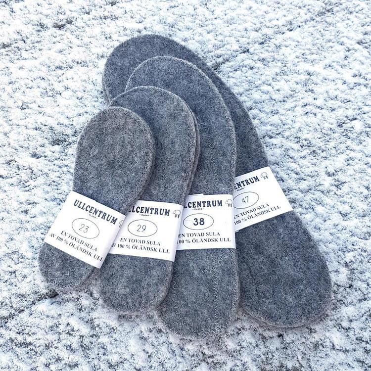 Ullsulor 100% svensk ull - storlek 37-47