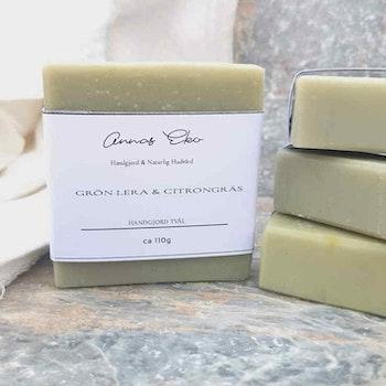 Handgjord tvål - Grön Lera & Citrongräs