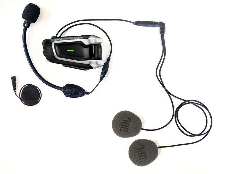 Cardo Packtalk Bold Duo, JBL högtalare, MC-Intercom