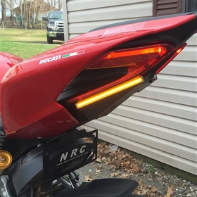 New Rage Cycles, Tail Tidy with blinkers, Ducati 959 Panigale