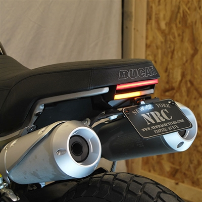 New Rage Cycles, Tailtidy med blinkers & bromsljus, Ducati Scrambler 1100