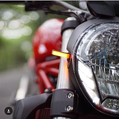 New Rage Cycles, LED-blinkers fram, Ducati Monster 1200R