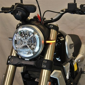 New Rage Cycles, LED-blinkers fram, Ducati Scrambler 1100