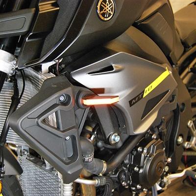 New Rage Cycles, LED-blinkers fram, Yamaha MT10