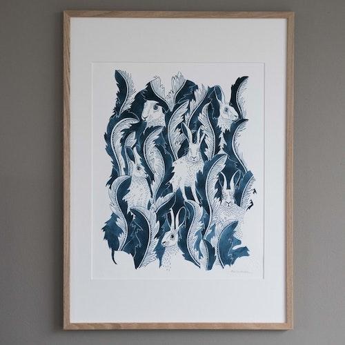 Haren Limiterad Edition konsttryck 40x50cm