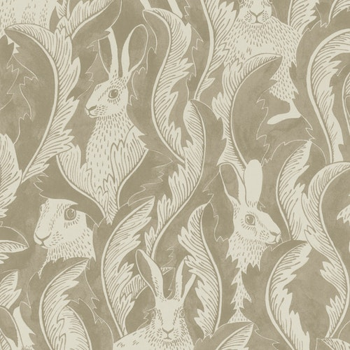 Tapet Hares in hiding Taupe