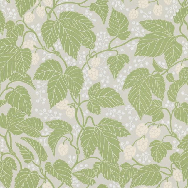 Tapet Hops and glory Leaf green
