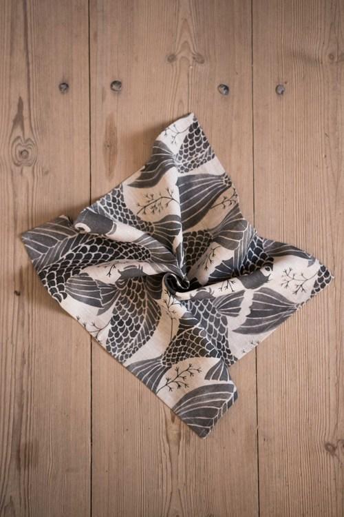 4-p servett/handduk Karp svart