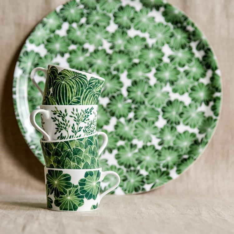 4-p koppar Botanica grön