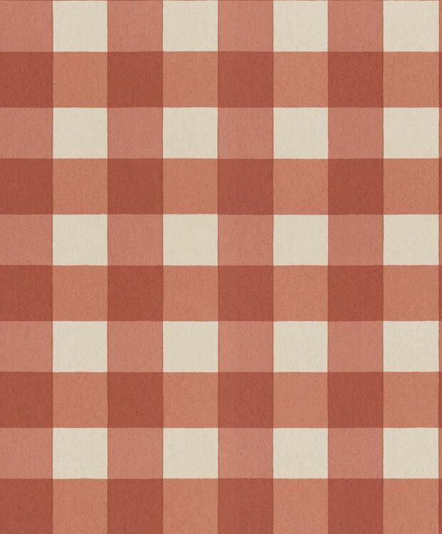 Tapet Picnic Brick red