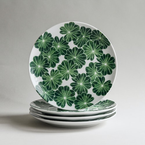 4-p Daggkåpa Assiett 21cm grön